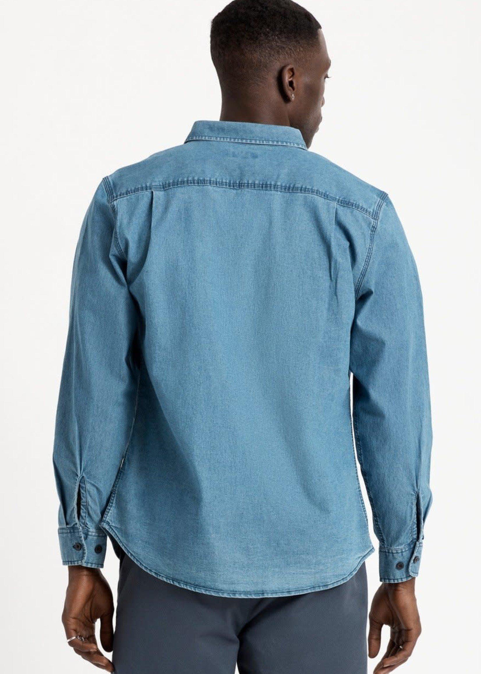 BRIXTON Bowery Lightweight L/S Crossover Shirt