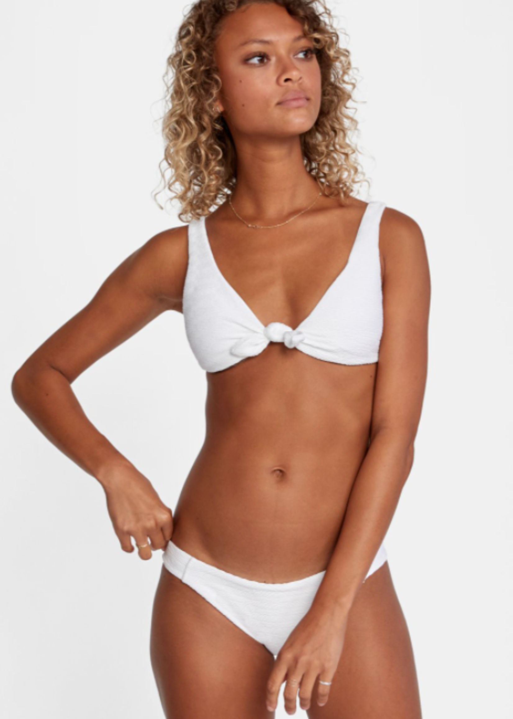 RVCA La Jolla Tie Front Bikini Top