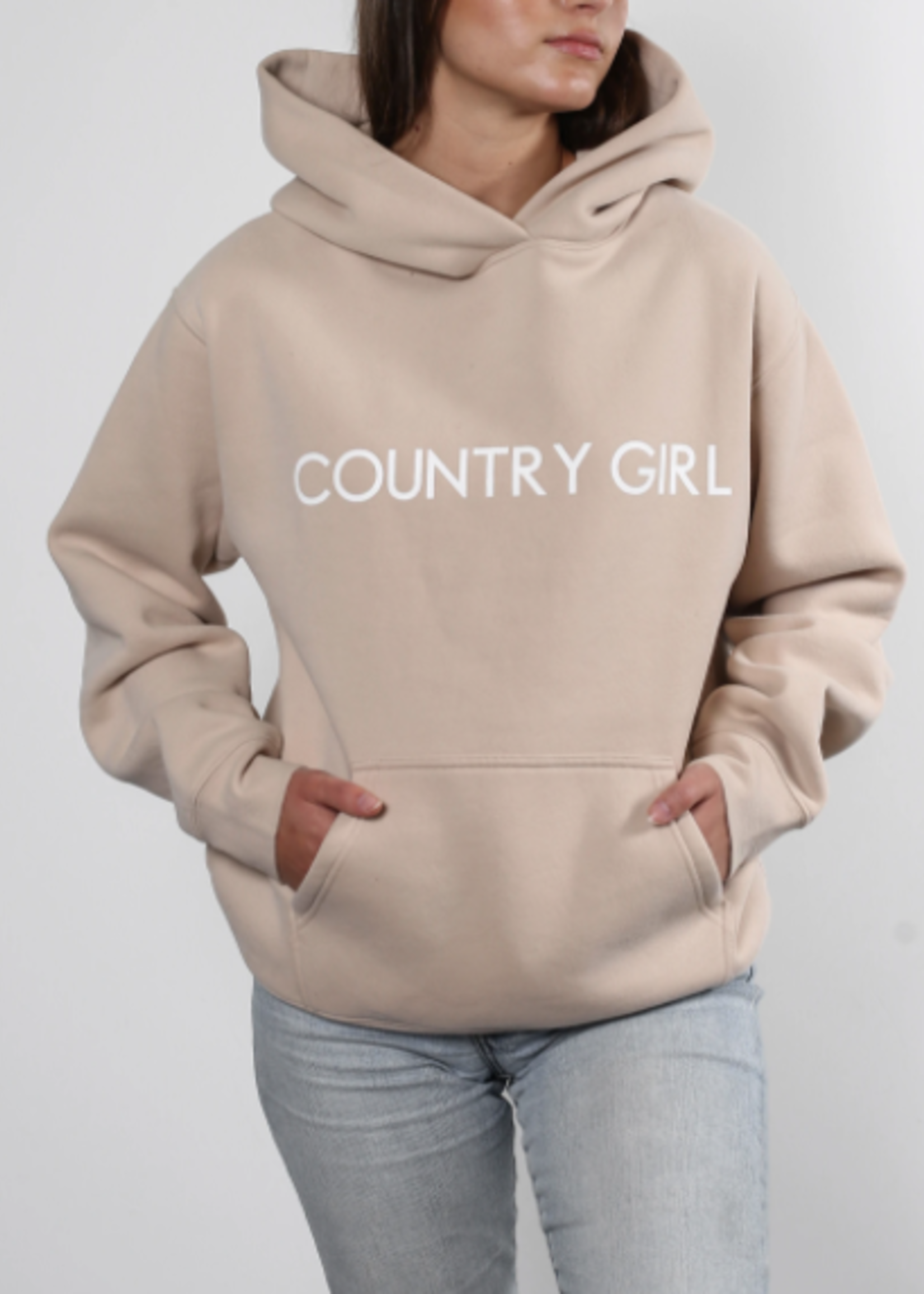 BRUNETTE  the label COUNTRY GIRL Core Hoodie