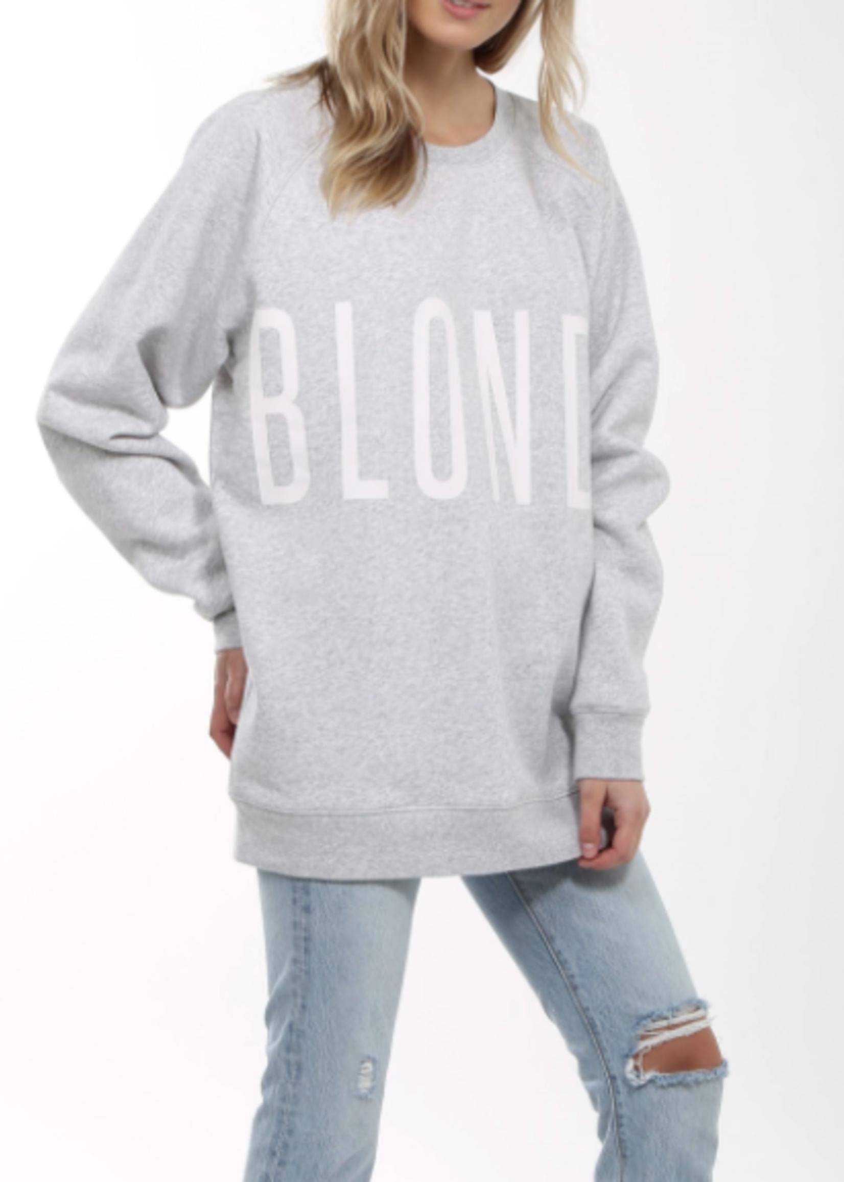 """BRUNETTE  the label """"Blonde"""" Big Sister Crew"""