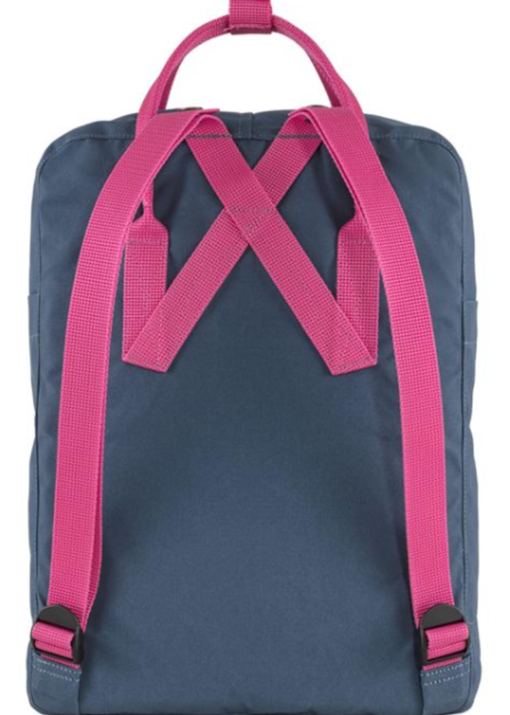 FJALL RAVEN Kanken Backpack ROYAL BLUE - FLAMINGO PINK