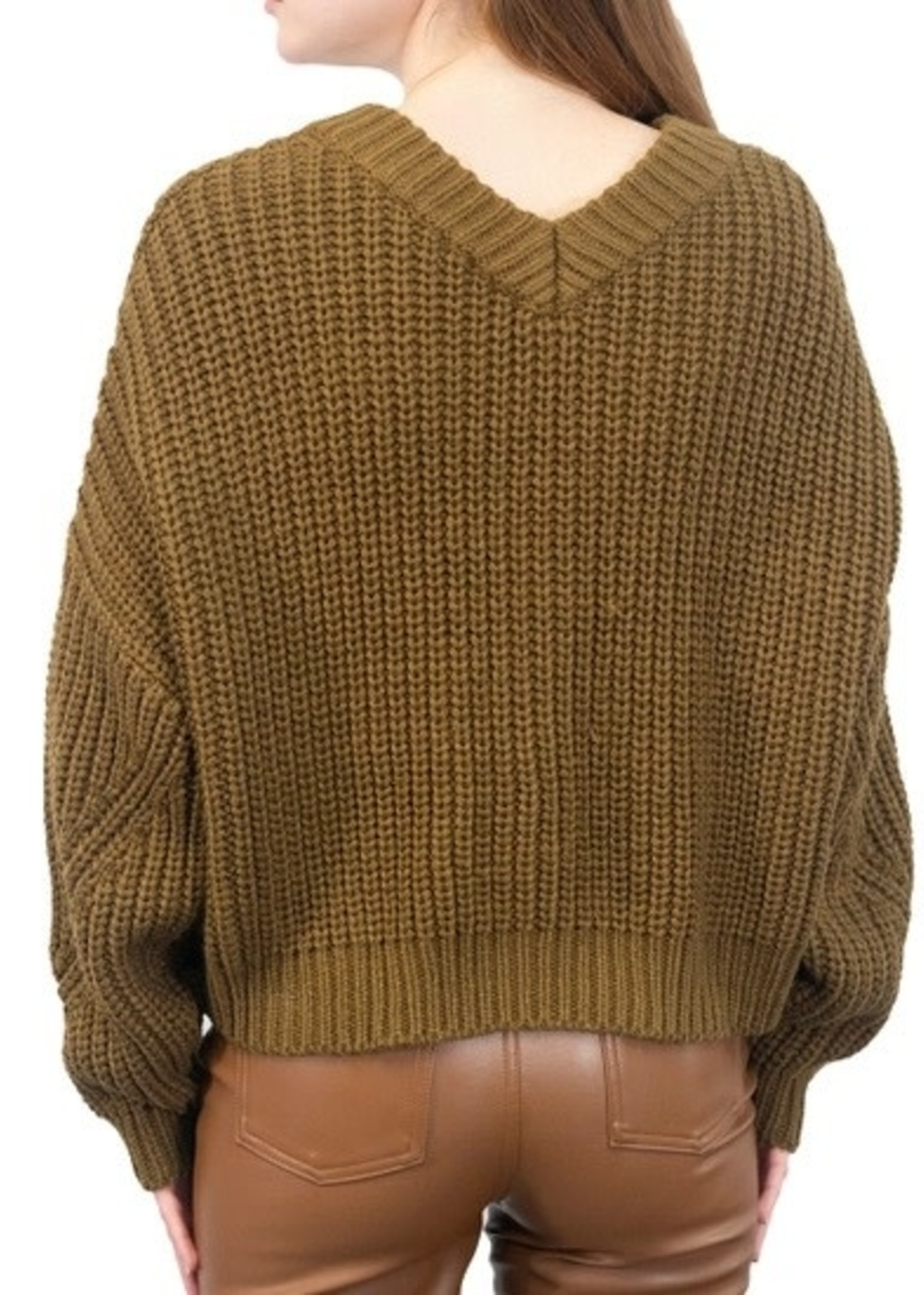 RD STYLE The SARAH  Cropped Knit Sweater