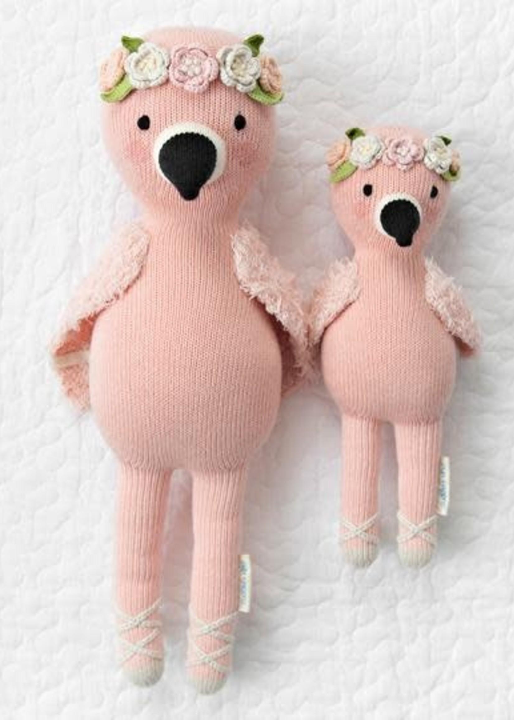 cuddle + kind Big Flamingo Knit Doll PENELOPE
