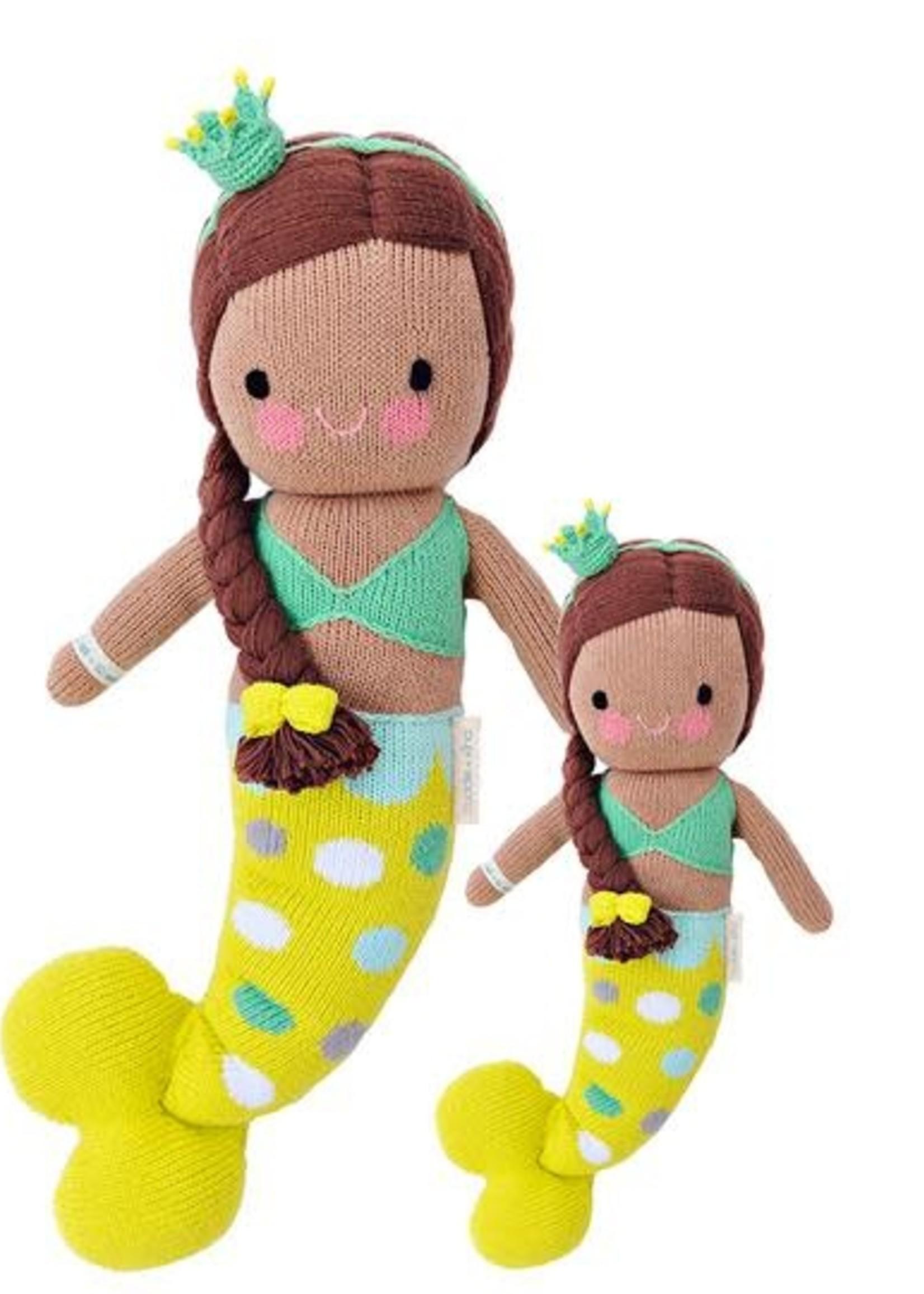 cuddle + kind Mermaid Knit Doll, PEARL