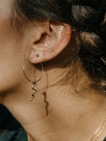AMANO studio Serpent Snake Hoops, 14K gold plated