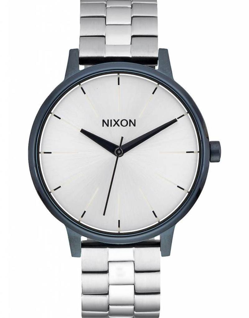 NIXON Kensington watch, Navy/ Silver