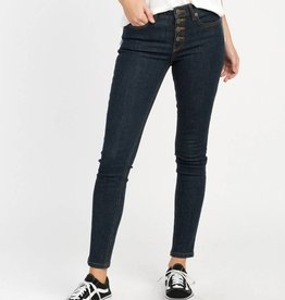 RVCA Dayley Denim, Button Fly, Mid Rise