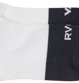 RVCA Block Ankle Sock, WHITE