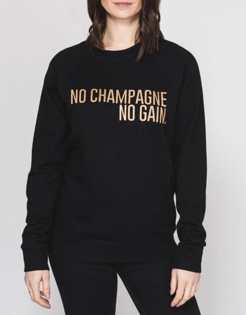 BRUNETTE  the label No Champagne No Gain Crew