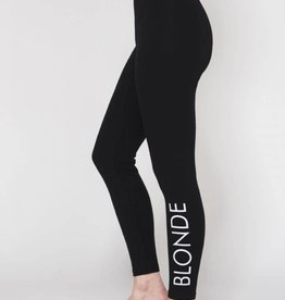 BRUNETTE  the label BLONDE leggings