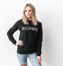 BRUNETTE  the label BLONDE Crew, BLACK