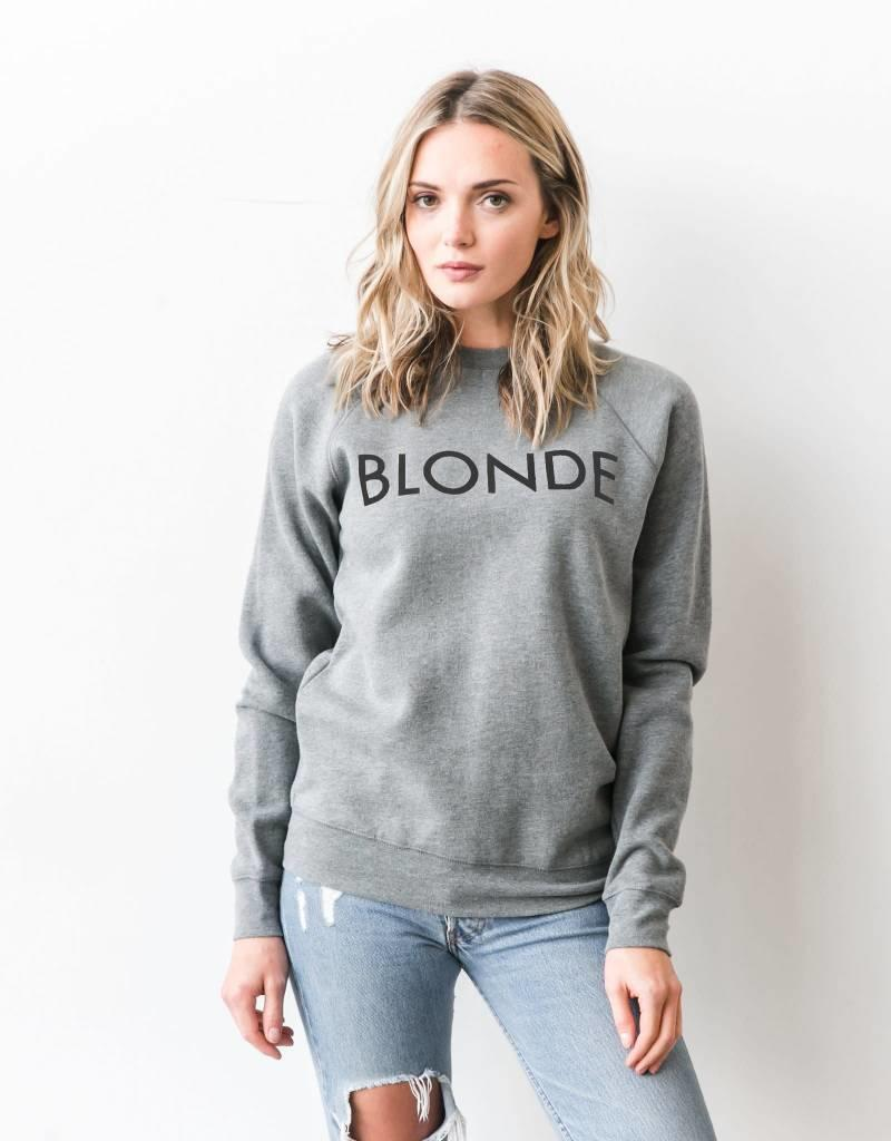 BRUNETTE  the label BLONDE crew, GREY/BLACK
