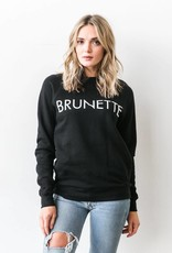 BRUNETTE  the label BRUNETTE Crew, BLACK