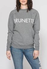 BRUNETTE  the label BRUNETTE Crew, GREY/WHITE
