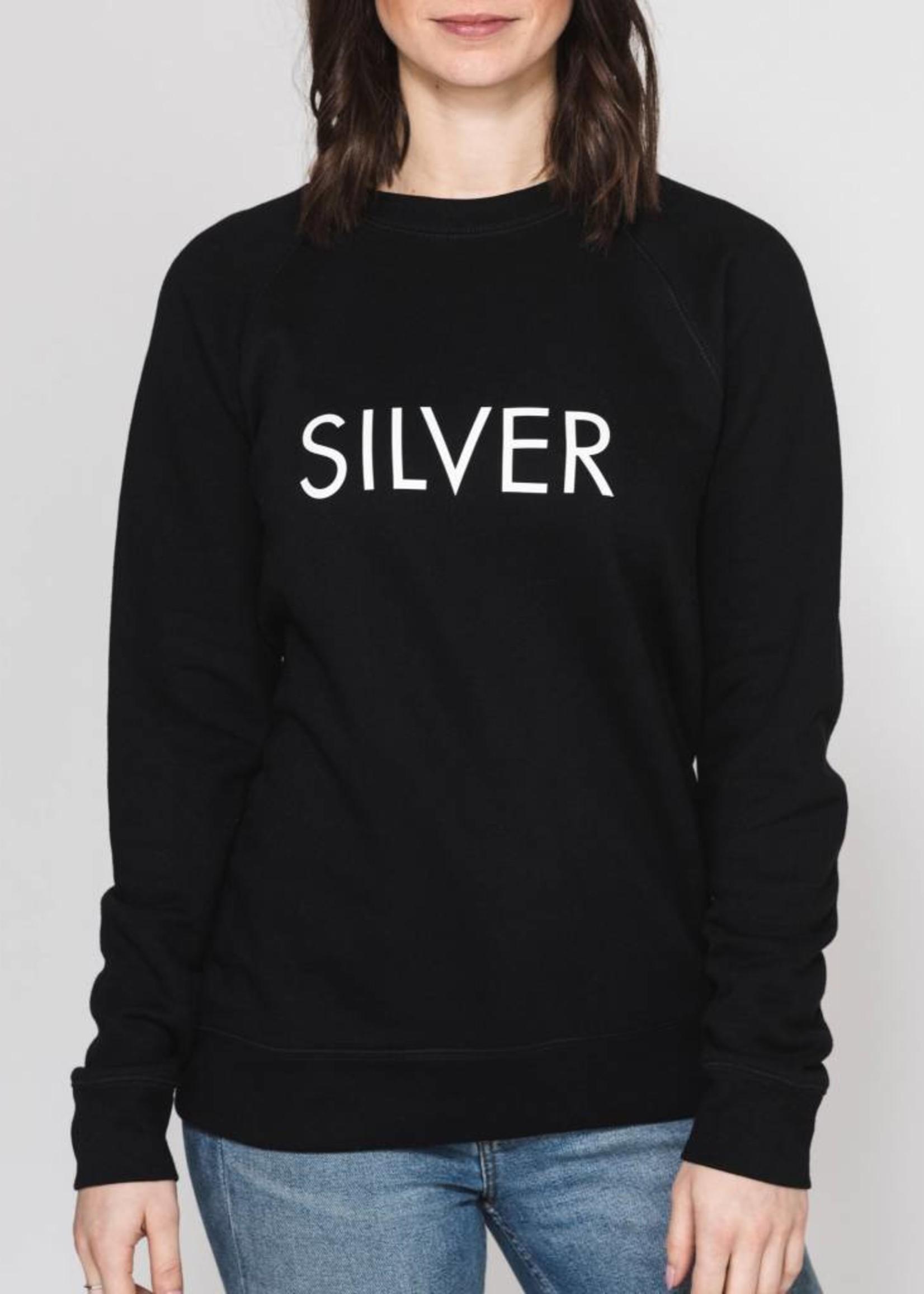 BRUNETTE  the label SILVER Crew, BLACK