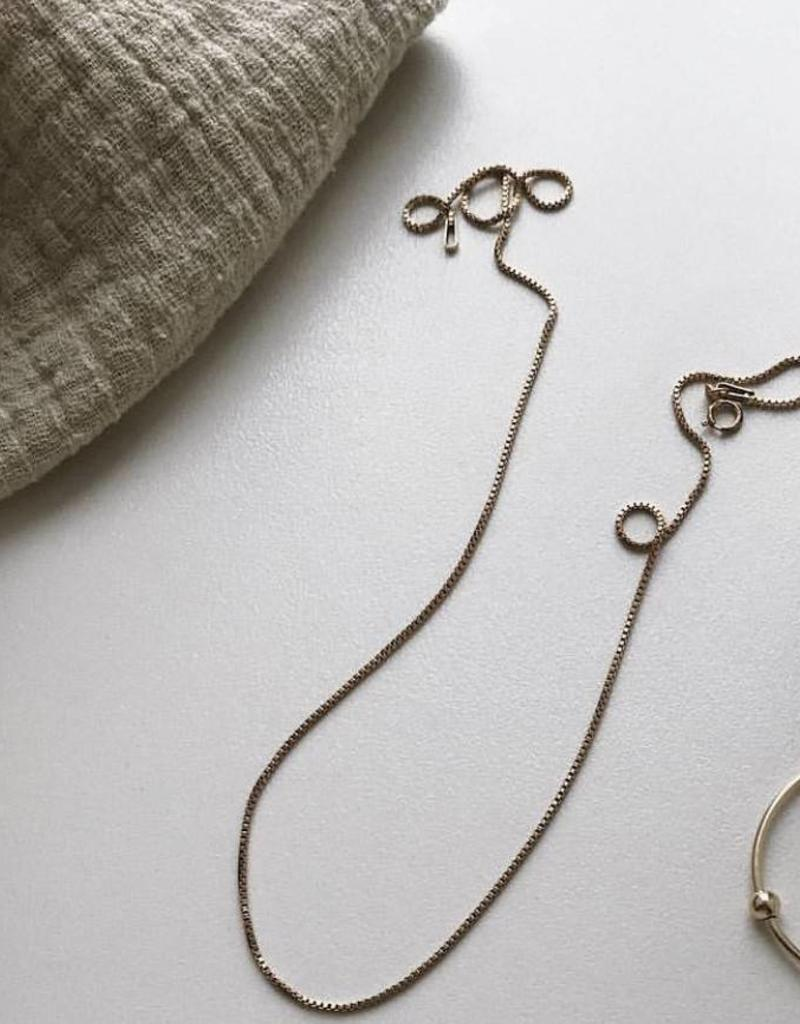 Lisbeth Box chain necklace, GOLD or SILVER