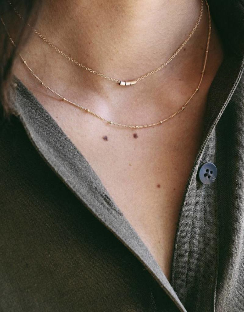 Lisbeth Satelite Chain Necklace, GOLD or SILVER
