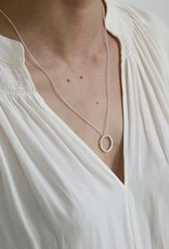 Lisbeth Small Pendant Circle Necklace, GOLD or SILVER