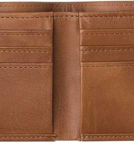 RVCA Bi Fold Crest Wallet TAN