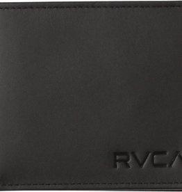 RVCA Bi Fold Crest Wallet BLACK