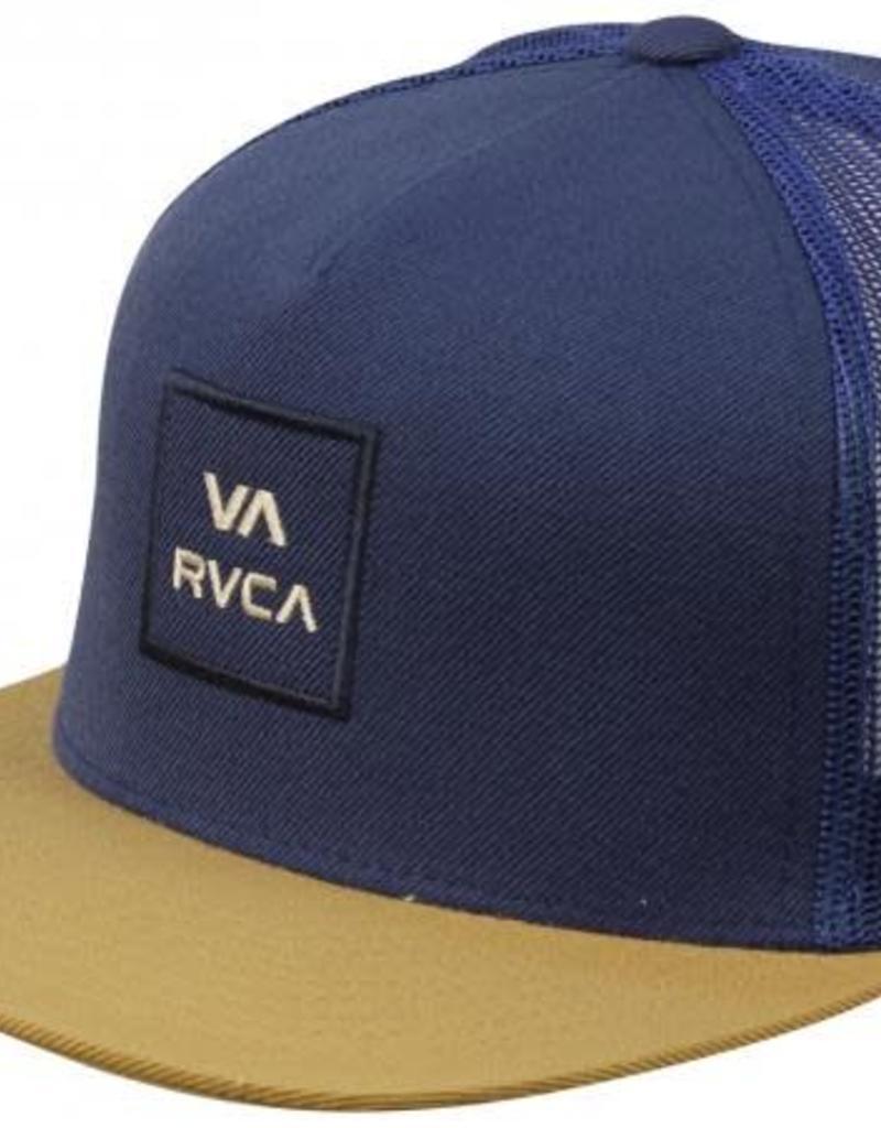 RVCA VA all the way trucker, BLU/TAN
