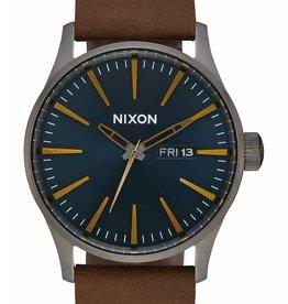 NIXON Sentry Leather, GUN/IND/BRN