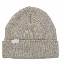 NIXON Logan Beanie, Bone Heather