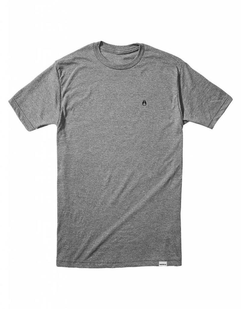 NIXON Sparrow Tee, Dark Heather Grey.