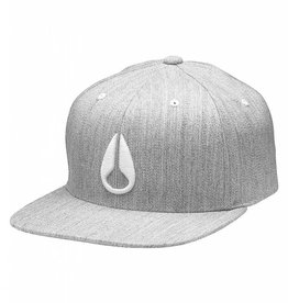 NIXON Deep Down FlexFit Hat Black Heather/ White