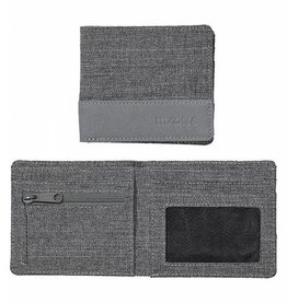 NIXON Atlas Nylon Showdown Bi-Fold Wallet, Charcoal
