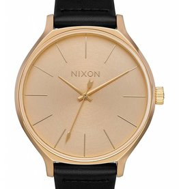 NIXON Clique, Leather, Black/Gold