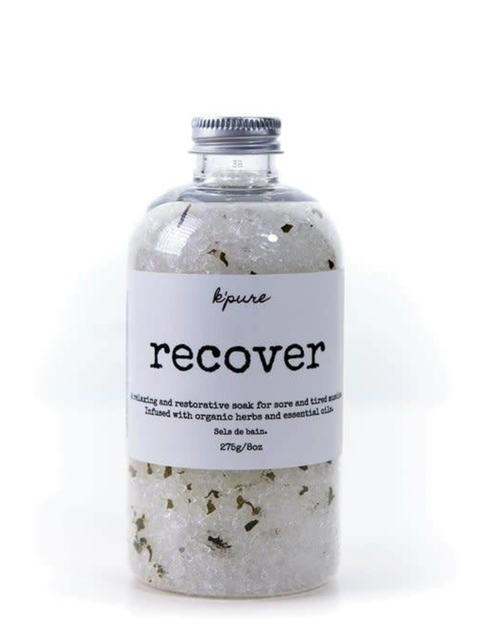 K'PURE RECOVER bath salt, 8oz