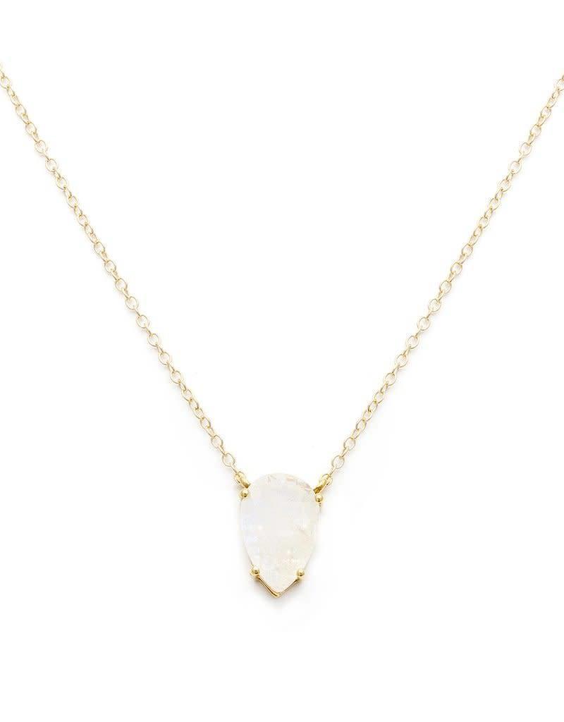 LEAH ALEXANDRA ASANA necklace, MOONSTONE