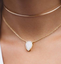 LEAH ALEXANDRA ASANA necklace, MOONSTONE