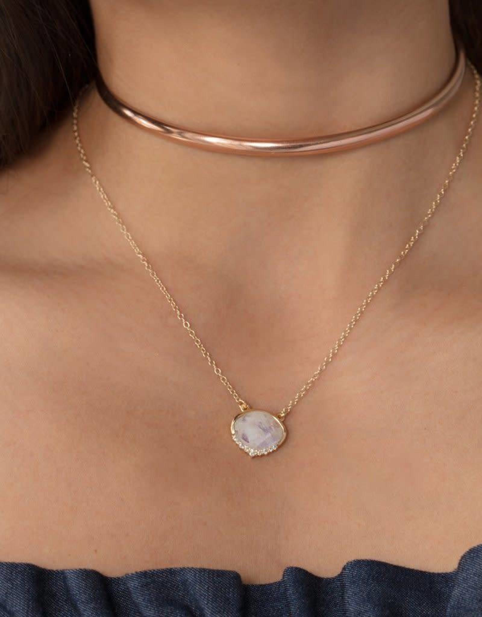LEAH ALEXANDRA ANNI necklace, MOONSTONE