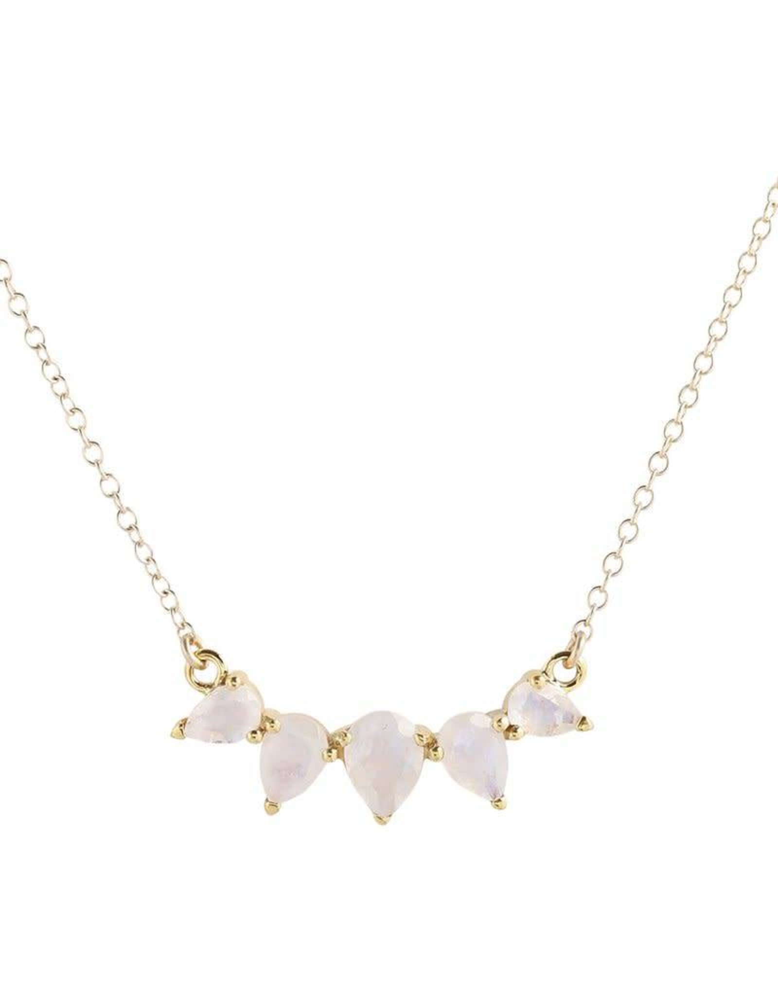 LEAH ALEXANDRA SUNNY necklace, MOONSTONE, 14k gold