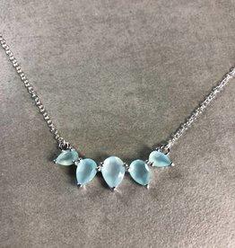 LEAH ALEXANDRA SUNNY necklace, AQUA CHALCEDONY