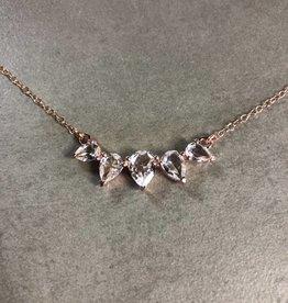 LEAH ALEXANDRA SUNNY necklace, WHITE TOPAZ, rose gold