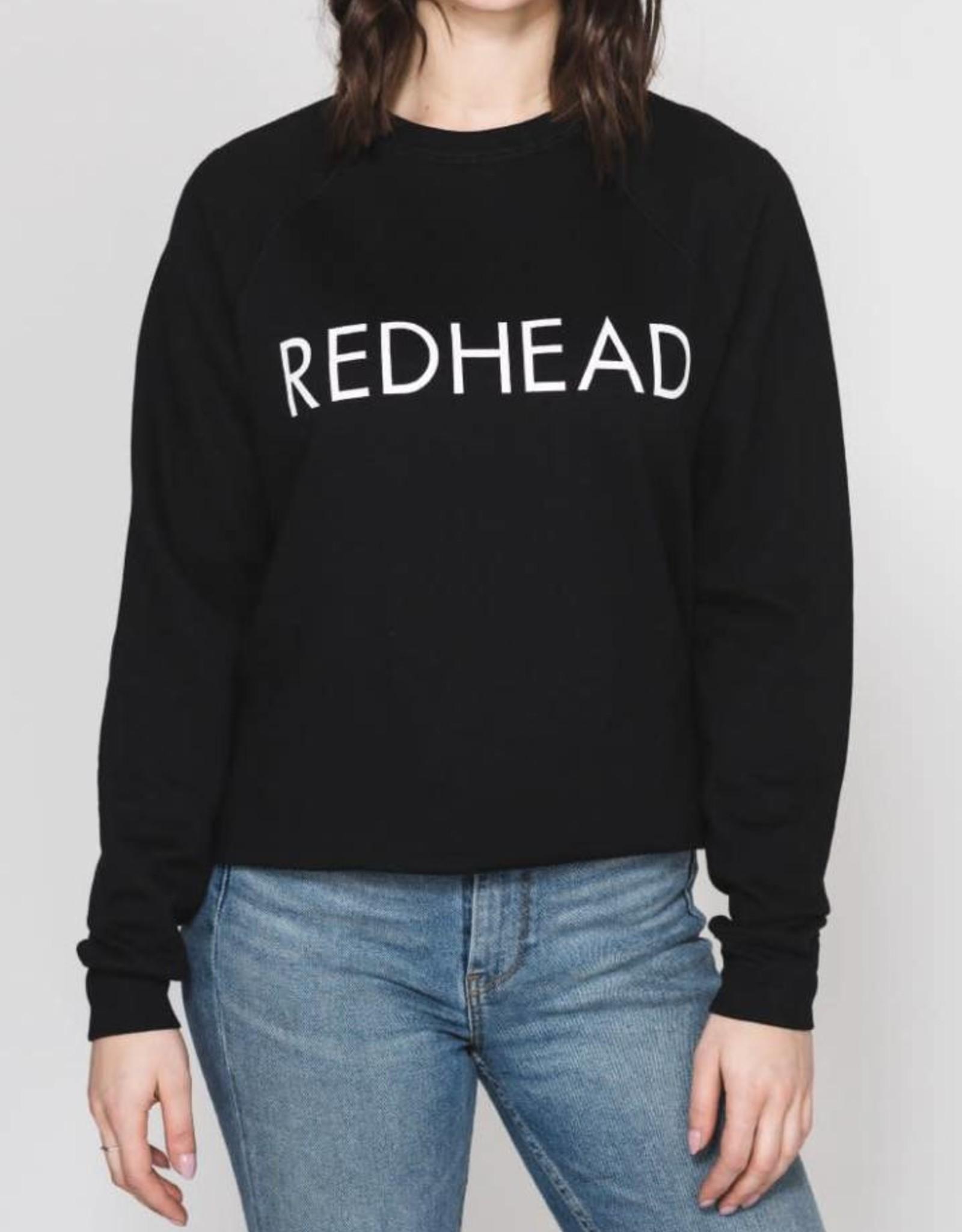BRUNETTE  the label REDHEAD crop crew, BLACK