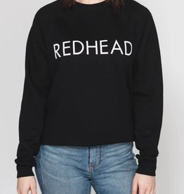 BRUNETTE  the label REDHEAD crop crew, BLACK