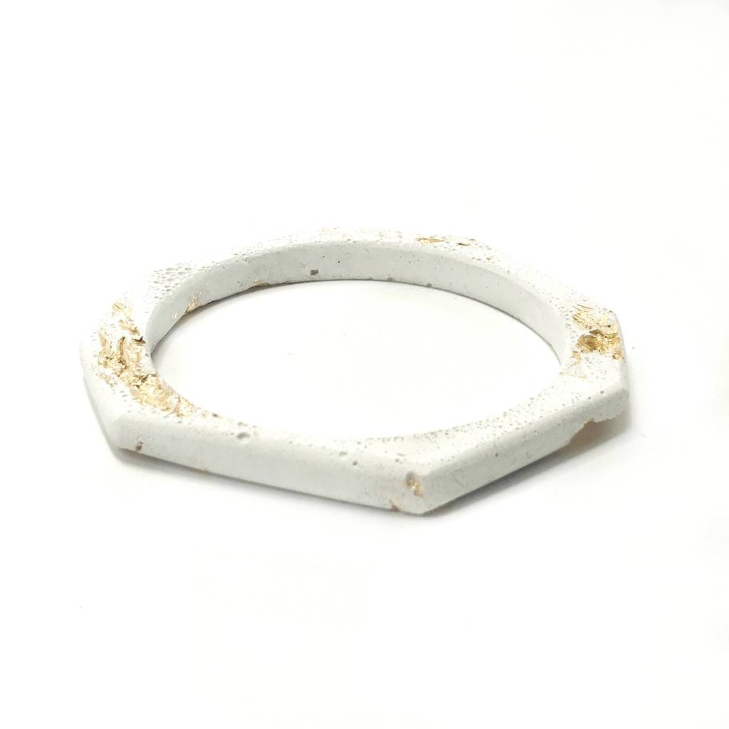 Cement Octagon Bangle-Gold