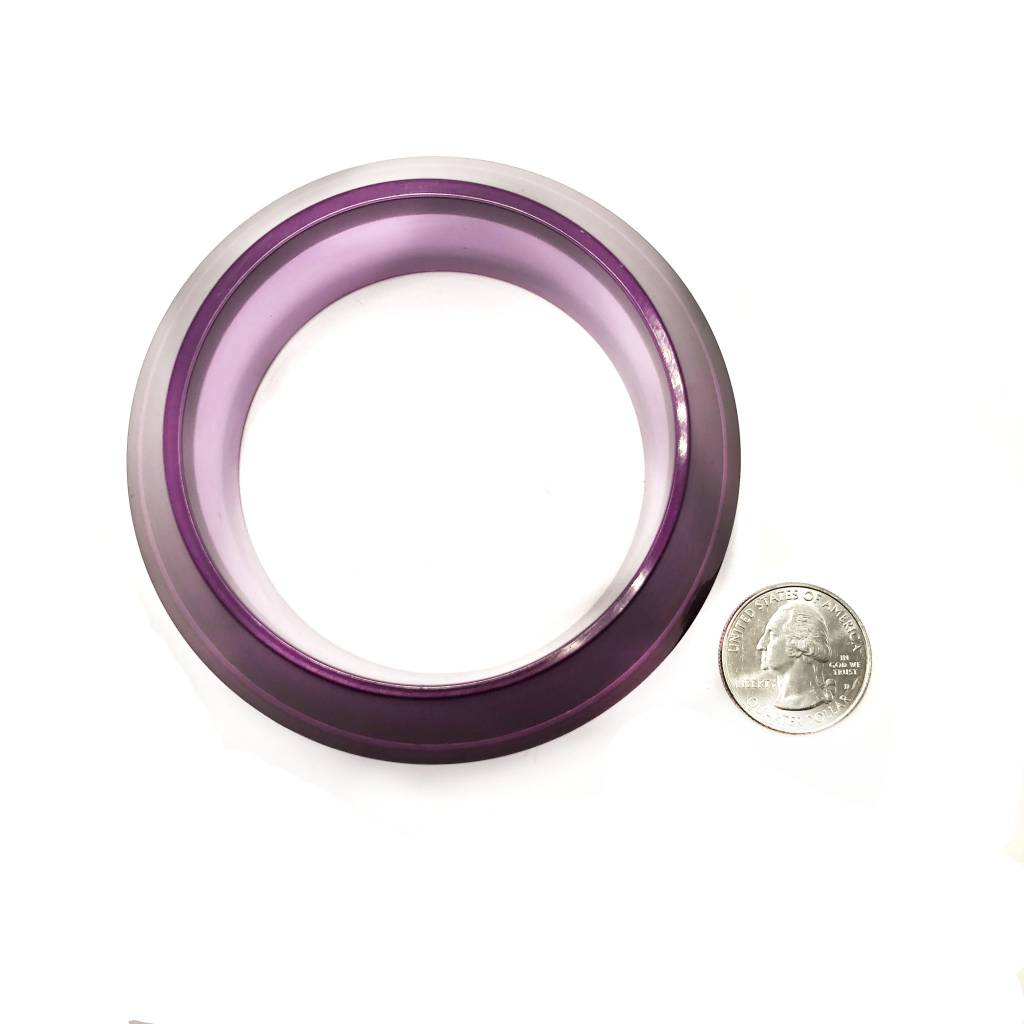 Purple Lucite Geometric Bangle