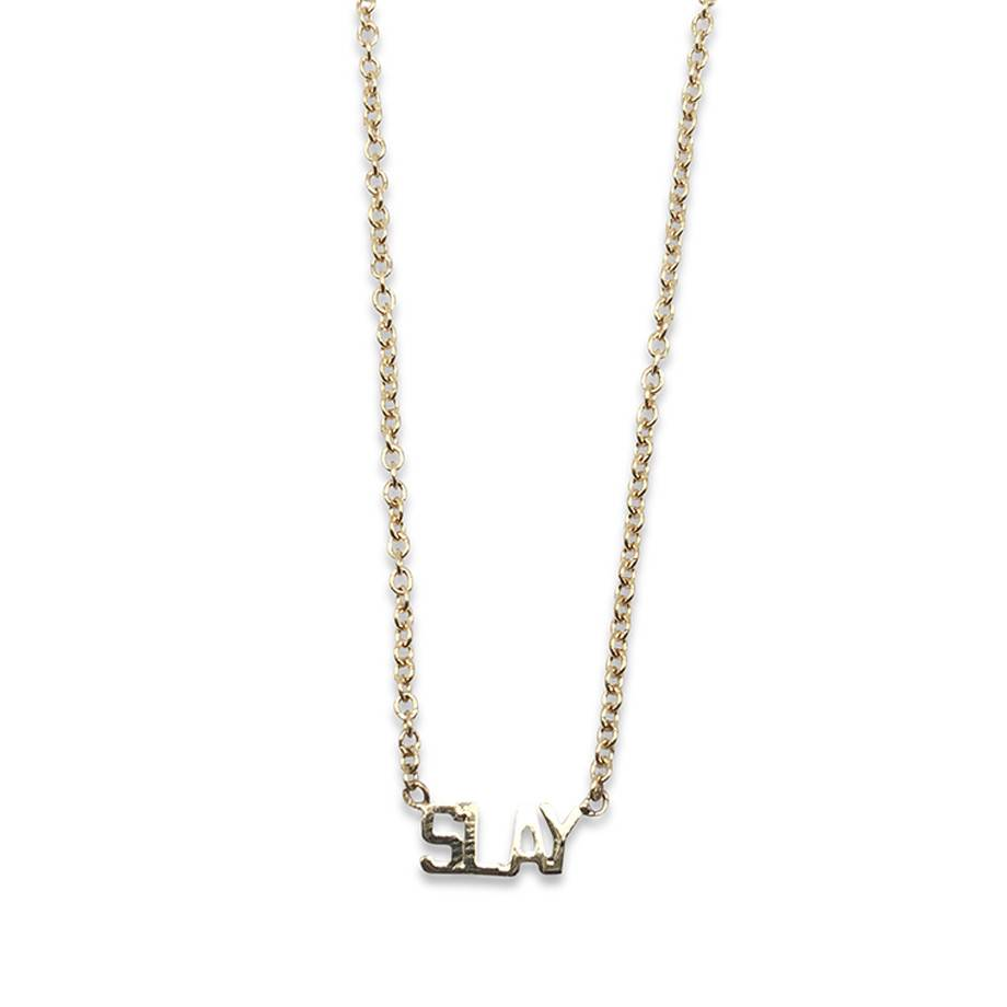 """""""Slay"""" Gold Necklace"""