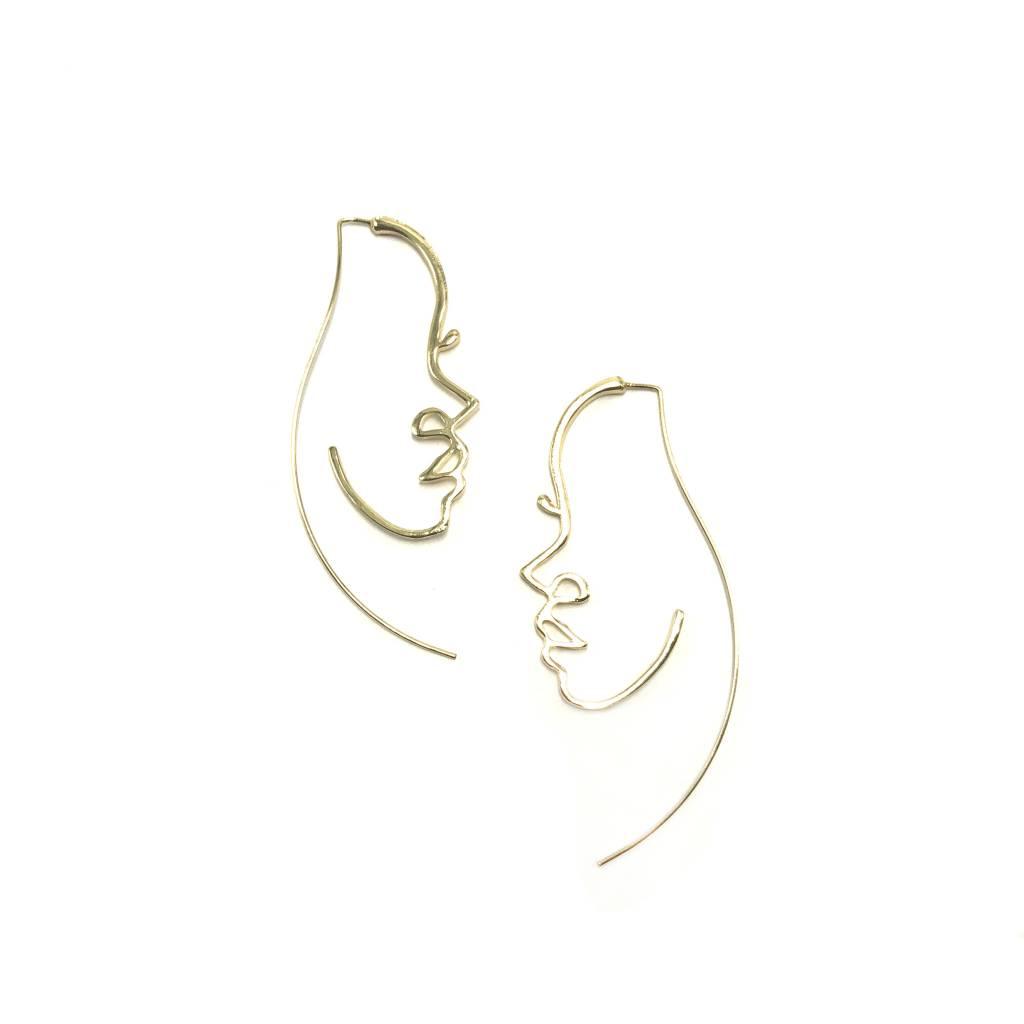 Jonesy Wood Visage Threader Earrings
