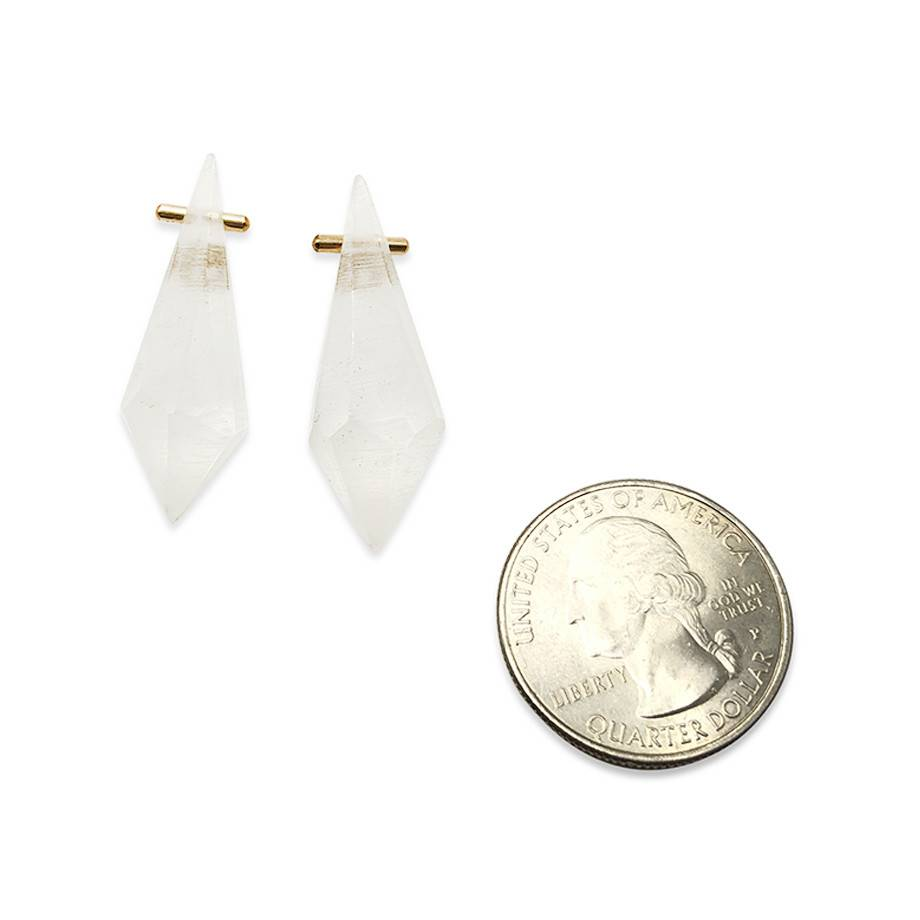 Acrylic Crystal Earrings-White
