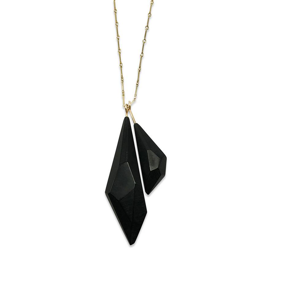 Acrylic Duo Pendant-Black