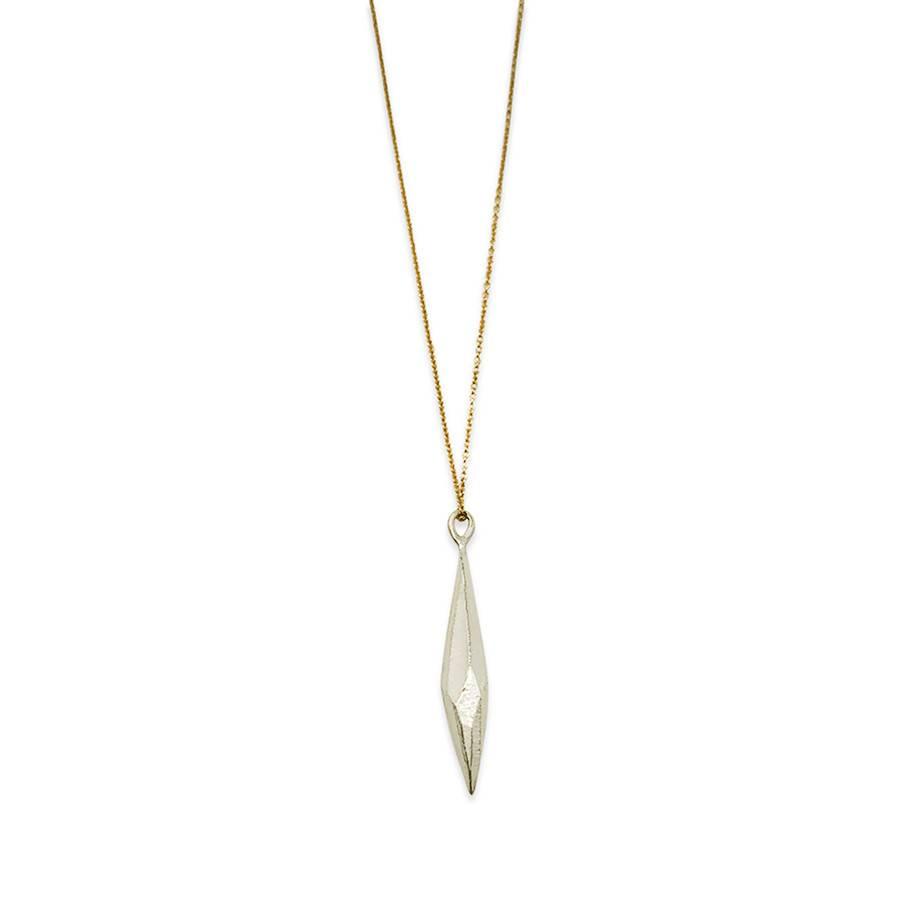 Raw Crystal Pendant- Silver