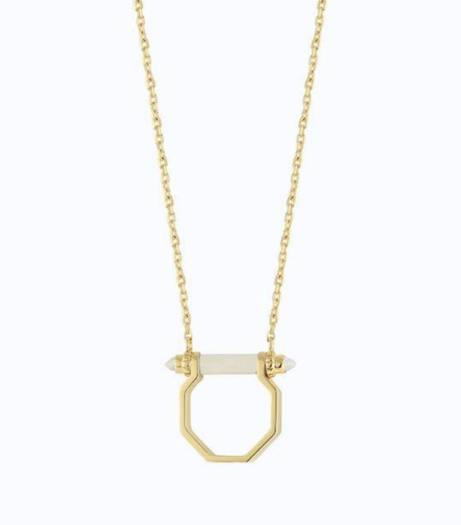 Hexagon Bar Necklace