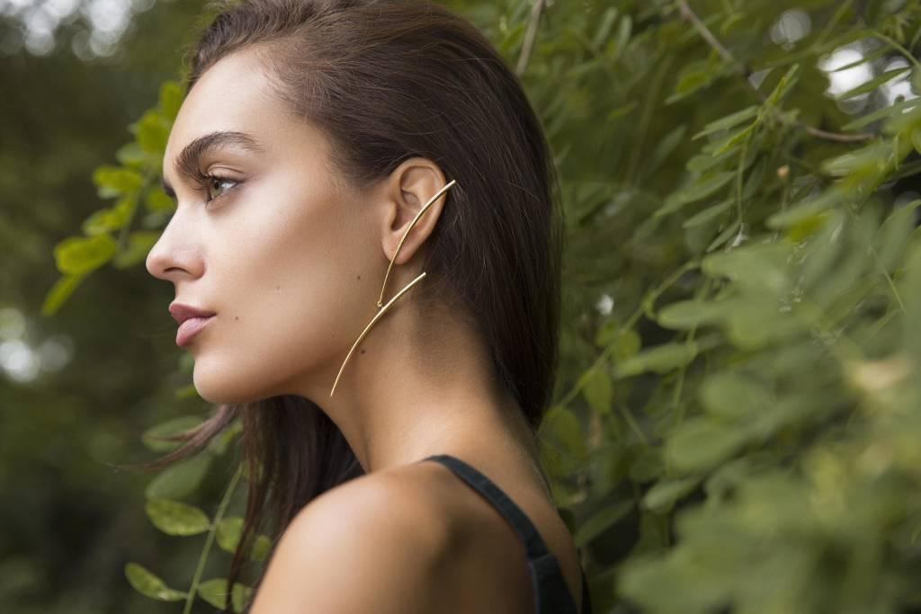 Katana Mobile Earring- Silver