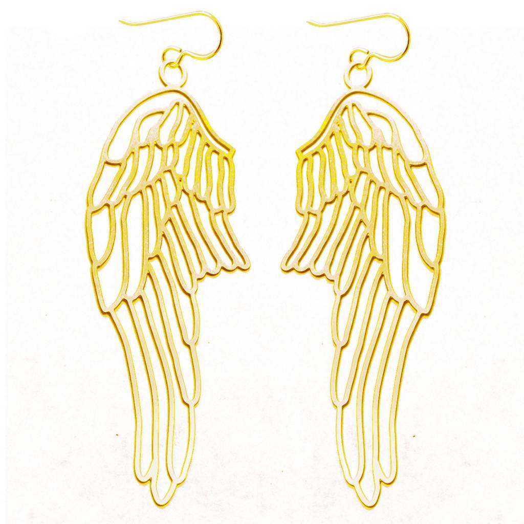 20k Gold Small Wings Earrings